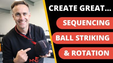 CREATE THE PERFECT BODY SEQUENCE IN YOUR SWING - Tour Striker Smart Ball Golf Training Aid