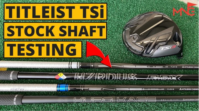 TITLEIST TSi STOCK SHAFT TESTING - What's The Difference